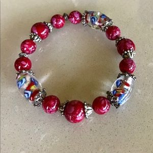 Colorful Beautiful Silver Bracelet